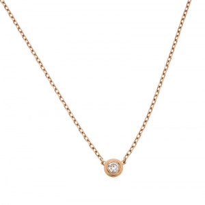 Cartier Diamants Légers Diamond 18k Rose Gold SM Necklace