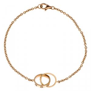 Cartier Love 2 Hoops 18k Rose Gold Bracelet