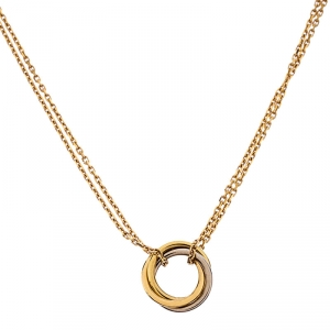 Cartier Trinity 18k Three Tone Gold Necklace