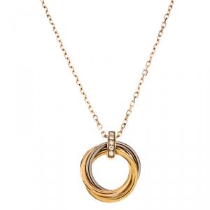 Cartier Trinity de Cartier Diamond 18k Three Tone Gold Necklace