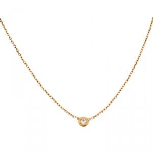 Cartier Diamants Légers Diamond 18k Yellow Gold Pendant Necklace XS