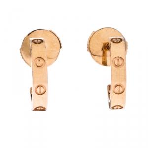 Cartier Love 18K Rose Gold Earrings