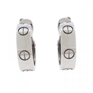 Cartier Love 18K White Gold Hoop Earrings