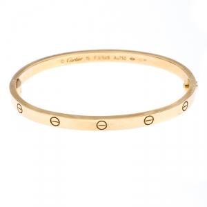 Cartier Love 18K Yellow Gold SM Bracelet 15