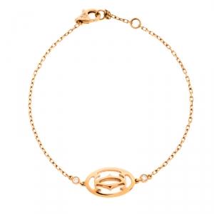Cartier Double C de Cartier Diamond 18K Rose Gold Bracelet