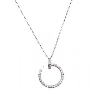 Cartier Juste Un Clou Diamond 18K White Gold Pendant Necklace