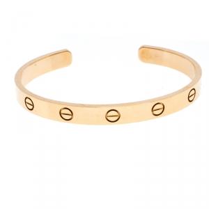 Cartier Love 18K Rose Gold Open Bracelet 17