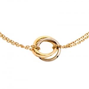 Cartier Trinity Three Tone 18K Gold Chain Bracelet