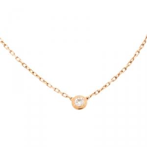Cartier Diamants Légers De Cartier Diamond 18k Rose Gold XS Necklace