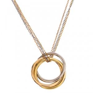 Cartier Trinity de Cartier 18K Three Tone Gold Multi Chain Pendant Necklace