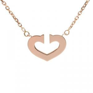 Cartier C Heart 18K Yellow Gold Pendant Necklace