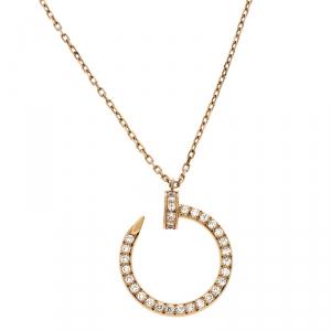 Cartier Juste Un Clou 18K Yellow Gold and Diamonds Necklace