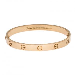 Cartier Love Yellow Gold Bracelet Size 17