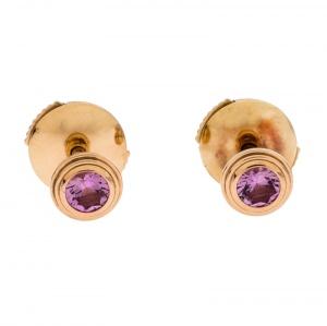 Cartier Saphirs Légers de Cartier Pink Gold Stud Earrings