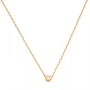 Cartier Diamants Légers Diamond 18k Yellow Gold Pendant Necklace SM