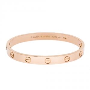 Cartier Love 18K Rose Gold Bracelet 16
