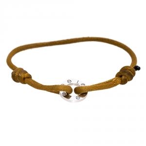 Cartier Love Charity Diamond 18K White Gold Adjustable Cord Bracelet