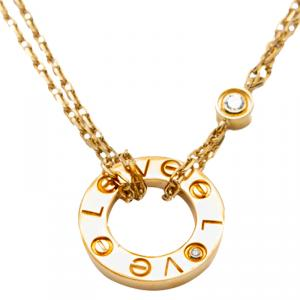 Cartier Love Yellow Gold Diamond Double Chain Necklace