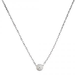Cartier Diamants Legers De Cartier 18K White Gold Necklace LM
