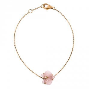 Cartier Caresse d'Orchidées par Cartier Pink Chalcedony 18K Rose Gold Bracelet