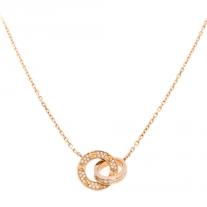 Cartier Love Diamond 18K Rose Gold Necklace