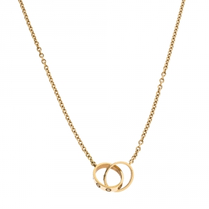 Cartier Love 2 Hoops 18K Yellow Gold Necklace