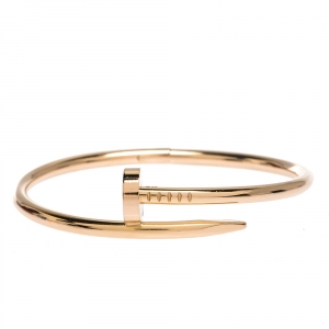Cartier Juste Un Clou 18K Rose Gold Bracelet 16