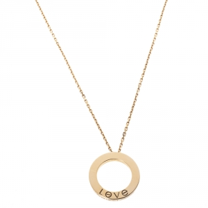 Cartier Love 18K Yellow Gold Pendant Necklace