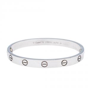Cartier Love 18K White Gold Bracelet 16