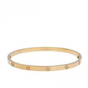 Cartier Love 18K Yellow Gold SM Bracelet 17