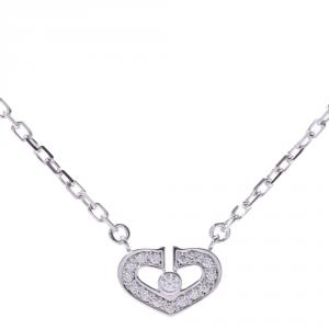 Cartier Heart of Cartier 18K White Gold Diamond Pendant Necklace