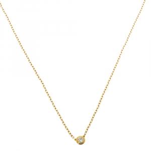 Cartier Diamants Légers De Cartier Diamond 18K Yellow Gold SM Necklace