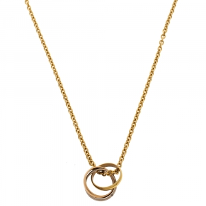 Cartier Trinity Vintage 18K Three Tone Gold Pendant Necklace