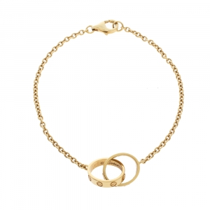 Cartier Love Interlocking 2 Hoops 18K Yellow Gold Bracelet