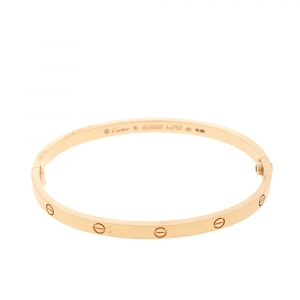 Cartier Love 18K Rose Gold SM Bracelet 16