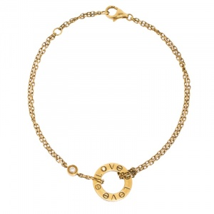 Cartier Love Diamond 18K Yellow Gold Chain Bracelet