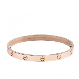 Cartier Love 18K Rose Gold Bracelet 18