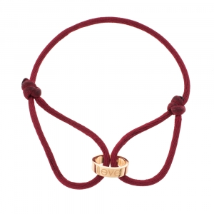 Cartier LOVE 18K Rose Gold Adjustable Cord Bracelet