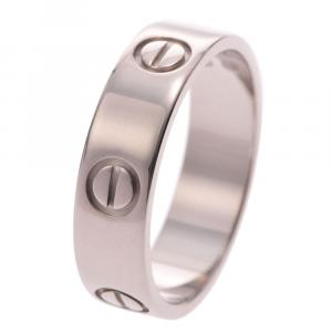 Cartier Love 18K White Gold Ring Size 56