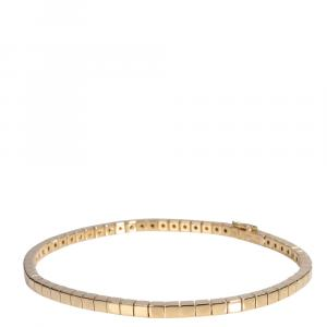 Cartier Lanieres 18K Yellow Gold Bracelet Size 18