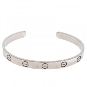 Cartier Love 18K White Gold Open Cuff Bracelet 16