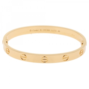 Cartier Love 18K Yellow Gold Bracelet 16