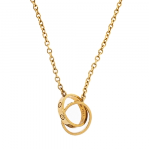 Cartier Love 18K Yellow Gold Chain Link Necklace