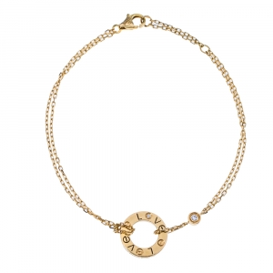 Cartier Love Diamond 18K Yellow Gold Bracelet