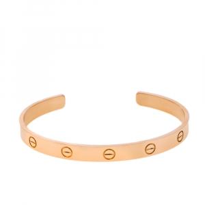 Cartier Love 18K Rose Gold Open Cuff Bracelet 19