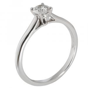 Cartier Solitaire 1895 Diamond Engagement Platinum Ring Size EU 52
