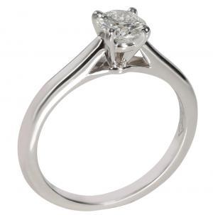 Cartier 1895 Diamond Solitaire Platinum Ring Size EU 47