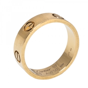 Cartier Love 18K Yellow Gold Ring Size 57