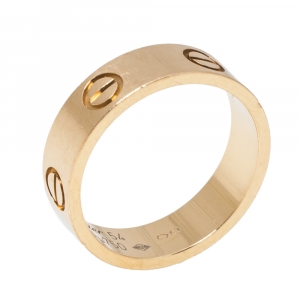 Cartier Love 18K Yellow Gold Ring Size 54