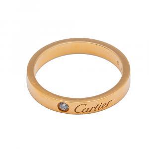 Cartier C de Cartier Rose Gold Wedding Diamond Ring Size 55